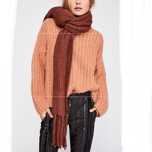 NWT Free People Oversized Ribbed Knit Scarf